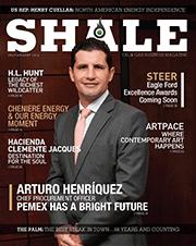 SHALE Magazine Cover July/Aug 2014 PEMEX, Arturo Henriquez