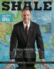Shale Oil & Gas Business Magazine May/June Cover Ryan Sitton - Texas Railroad Commission