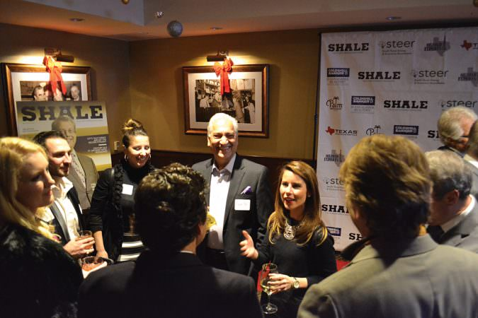 SHALE Oil & Gas Business Magazine November December 2015 Cover Party honoring Leslie Shockley Beyer and Chairman David Porter