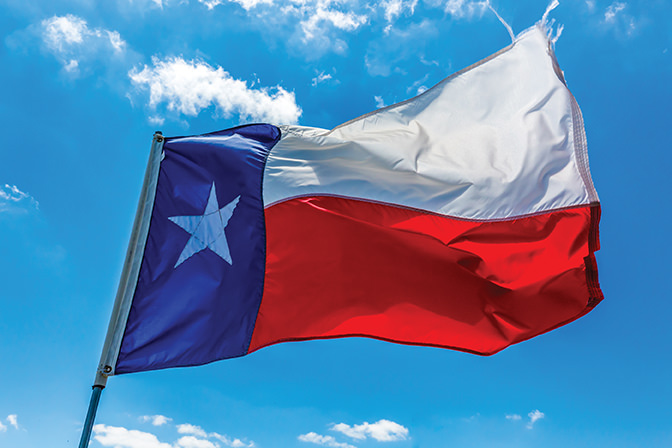 Lone Star Flag of the State of Texas USA