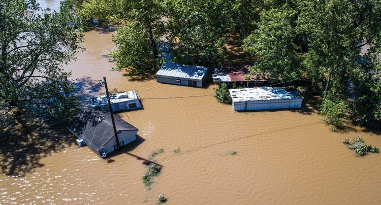 bigstock--203301067 - Hurricane Harvey Massive Flooding Columbus Texas small Town destruction close up